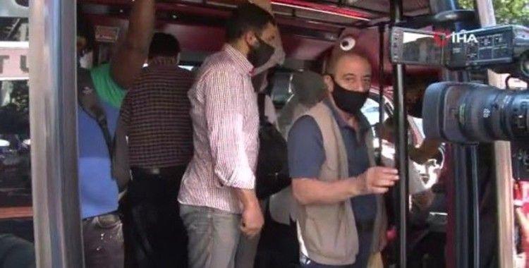 Esenyurt'ta sosyal mesafesiz yolculuk: 12 yerine 30 yolcu çıktı