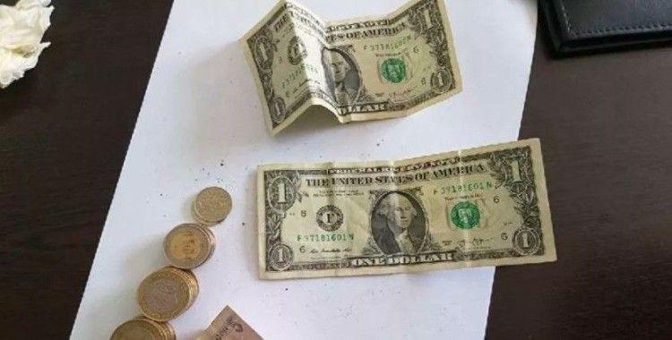 Hatay'da dilencinin üzerinden 'F' serisi dolar çıktı