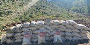 Van'da toprağa gömülü 3 ton suni gübre ele geçirildi