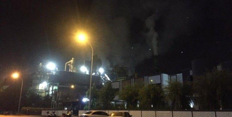 Sunta fabrikasının talaş silosunda yangın