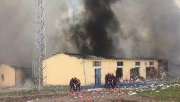İşte havai fişek fabrikasındaki patlamadan en net görüntüler