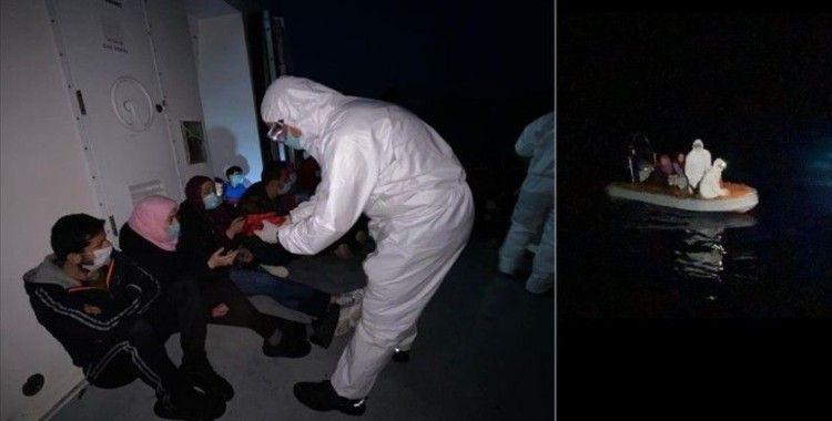 Muğla'da mahsur kalan 17 sığınmacı kurtarıldı