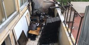 Arnavutköy'de mobilya imalathanesinde korkutan yangın