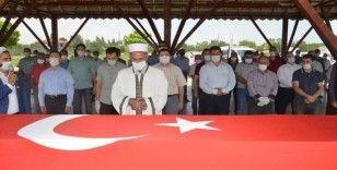 Kıbrıs Gazisi İhsan Malk, son yolculuğuna uğurlandı