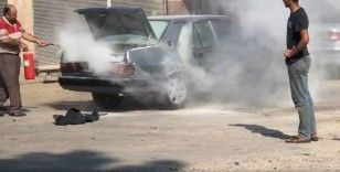 Aracın yakıt tankı sıcağa dayanamayıp bomba gibi patladı