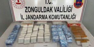 Zonguldak'ta 3 bin 620 adet tütün doldurulmuş makaron ele geçirildi