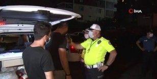 Polis kontrol noktasından kaçan araç kaza yaptıktan sonra yakalandı