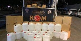 Gaziantep'te 6 ton kaçak etil alkol ele geçirildi