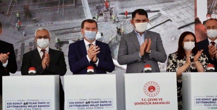 Zeytinburnu'nda 54 bin metrekarelik Millet Bahçesinin temeli atıldı