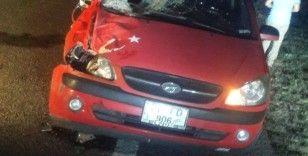 Develi'de meydana gelen kazada sürücü ölümden döndü