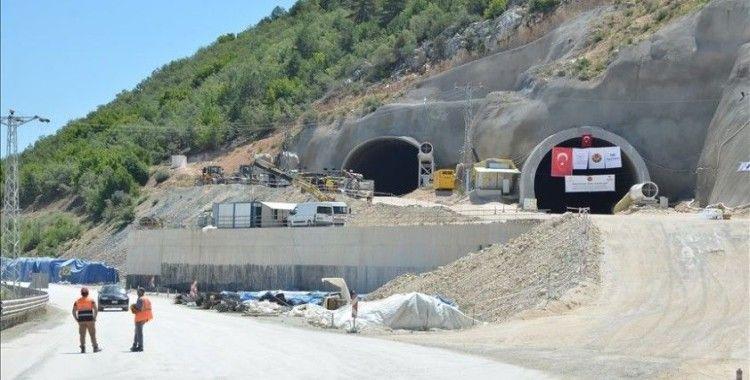 Sürücülerin korkulu rüyası Kırkdilim'e inşa edilen tünellerde ilk ışık görüldü