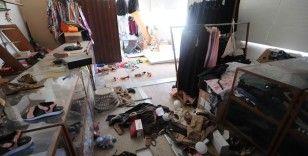Bayram öncesi Azez'de hain saldırıda yardım mağazası zarar gördü