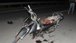 16 yaşındaki motosiklet sürücüsü kazada hayatını kaybetti