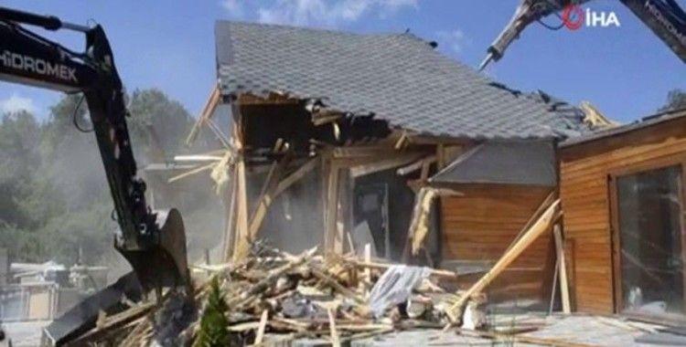 İSKİ koruma havzasında bulunan yapıları yıkıyor