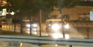 Zeytinburnu'nda geri geri giden sürücü kazaya davetiye çıkardı