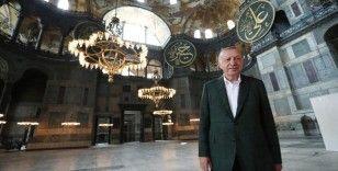 Cumhurbaşkanı Erdoğan ikinci kez Ayasofya Camisi'nde