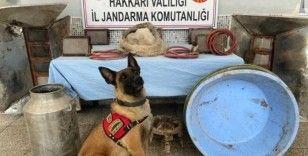 PKK terör örgütüne finansman sağlamak amacıyla kullanılan sığınakta uyuşturucu ele geçirildi