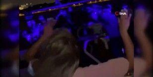 İstanbul Boğazı'nda korona virüs salgınına rağmen yat partisi kamerada