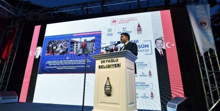 Bakan Kurum: 'Türkiye'de 1,5 milyon acil dönüştürülmesi gereken konut var'