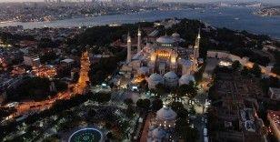 Ayasofya Camii böyle aydınlatıldı