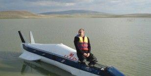 Denizde gidebilen yüksek hızlı araç yaptı, köylüler 'füze gördük' ihbarında bulundu