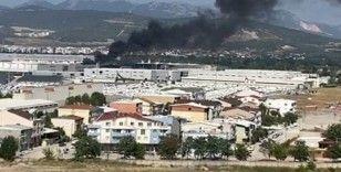 Tekstil fabrikası yangını kentin birçok noktasından görüldü
