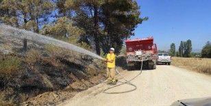 5 ayrı noktadan çıkan Çanakkale yangını kontrol altına alınmaya çalışılıyor