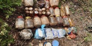 Amanoslarda PKK'nın sığınağında yaşam malzemeleri ele geçirildi
