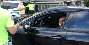 Trafik denetiminde emniyet kemeri takmayan sürücülere ceza yağdı