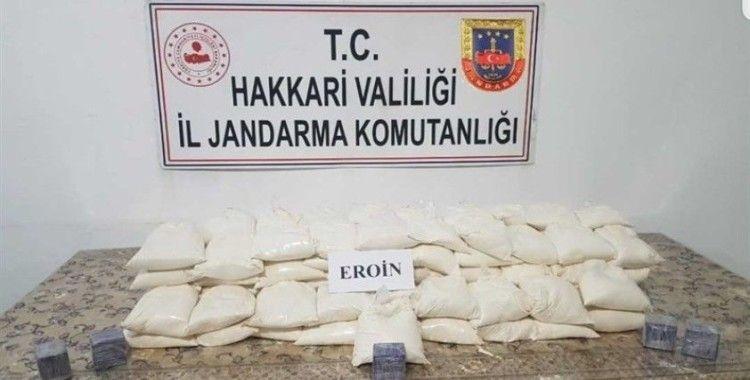 Şemdinli'de 80 kilo eroin ele geçirildi