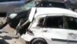 İzmir'de dehşet kaza kamerada