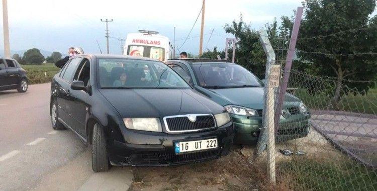 İnegöl'de kaza 1 yaralı