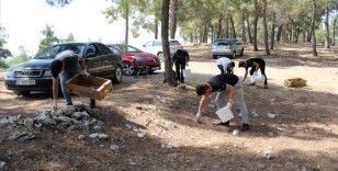 Mersinli gençler, mesire alanlarından bir saatte 1,5 ton çöp topladı