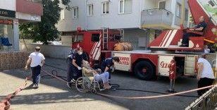 Kadıköy'de yangından bir bebek bir yaşlı vatandaş son anda kurtarıldı