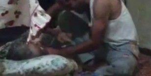 Yatalak anneye işkence kamerada... Bu nasıl evlat !
