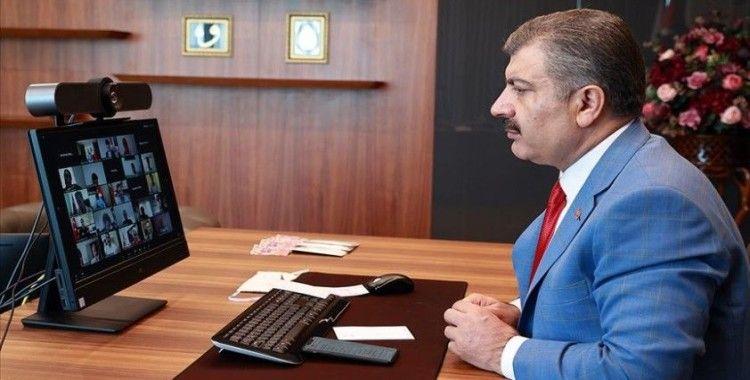 Sağlık Bakanı Koca il sağlık müdürleriyle video konferansla görüştü