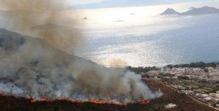 Bodrum'daki yangın 4 saatte kontrol altına alındı
