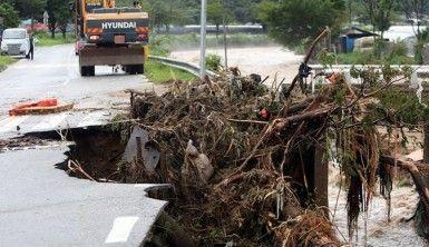 Güney Kore'de sağanak yağış
