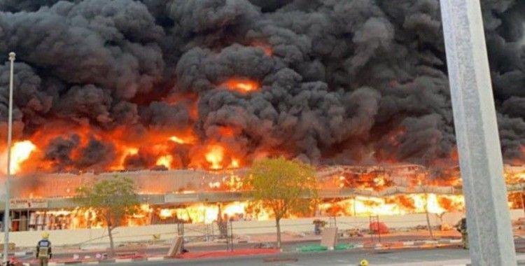 Birleşik Arap Emirlikleri'nde çarşıda korkutan yangın