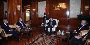 Bakan Çavuşoğlu Libya UMH Başkanı Serrac ile görüştü