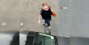 Şişli'de kadınların mama kavgası kamerada