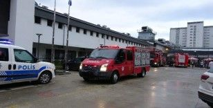 KTÜ Farabi Hastanesi'ndeki yangın paniğe neden oldu