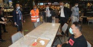 İstanbul Havalimanı'nda yolcu ve işletmelere koronavirüs denetimi