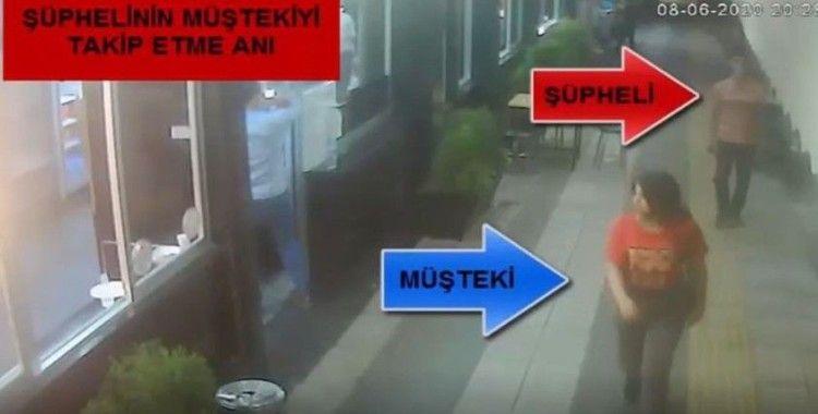 Kapkaç şüphelisi önce kameraya sonra polise yakalandı