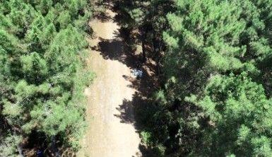 Aydos ormanında dronelu mangal denetimi