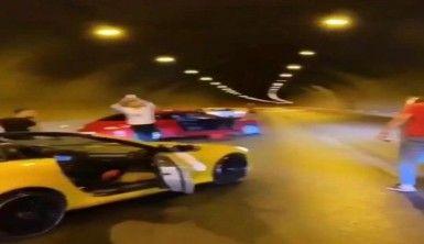 İzmir'de düğün konvoyundaki araçlar tüneli kapattı