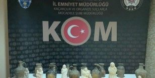 Kırıkkale'de tarihi insan figürlü heykeller ele geçirildi