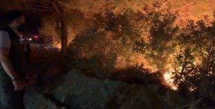 Hatay'daki yangına karşı ateş tekniğiyle müdahale edildi
