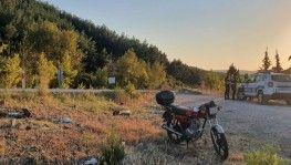Malkara - Şarköy yolunda motosiklet takla attı
