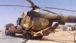 UMH güçleri, Hafter'e ait helikopteri ele geçirdi